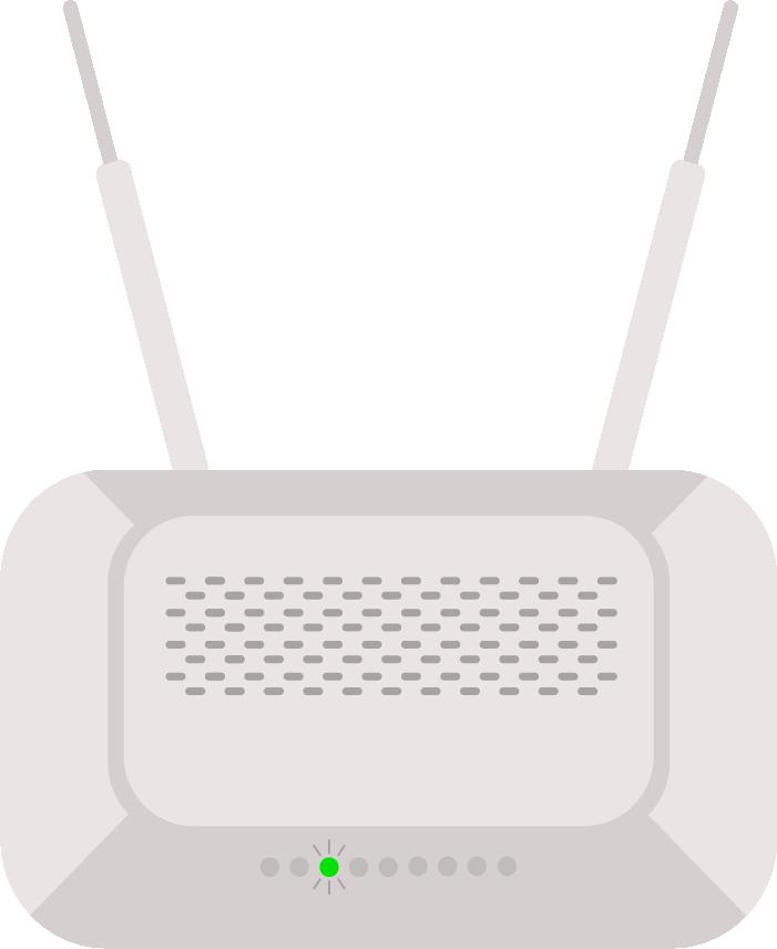 modem con luz