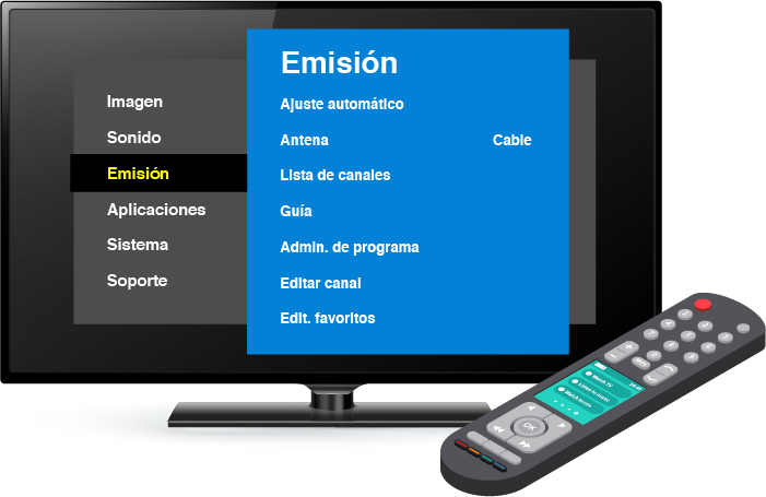 tv configuracion